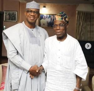 Dapo Abiodun with Obasanjo