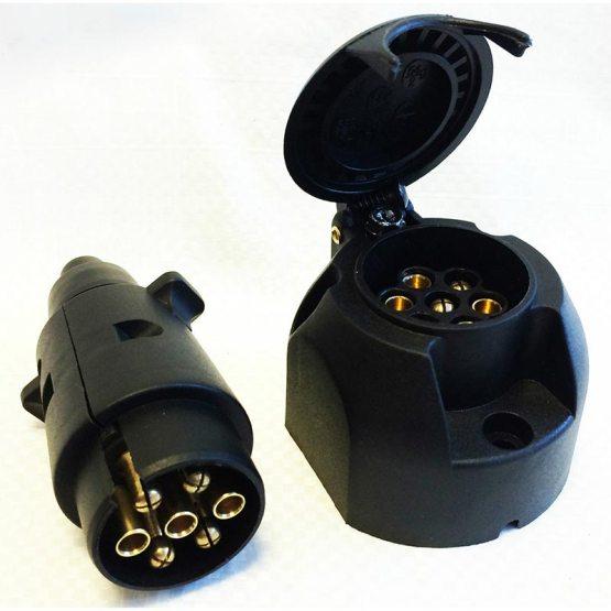 caravan accessories trailer plug socket set