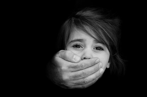 a child being silenced