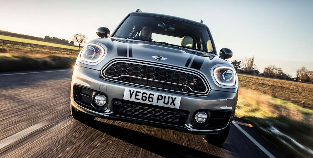 MINI with 66-reg number plate