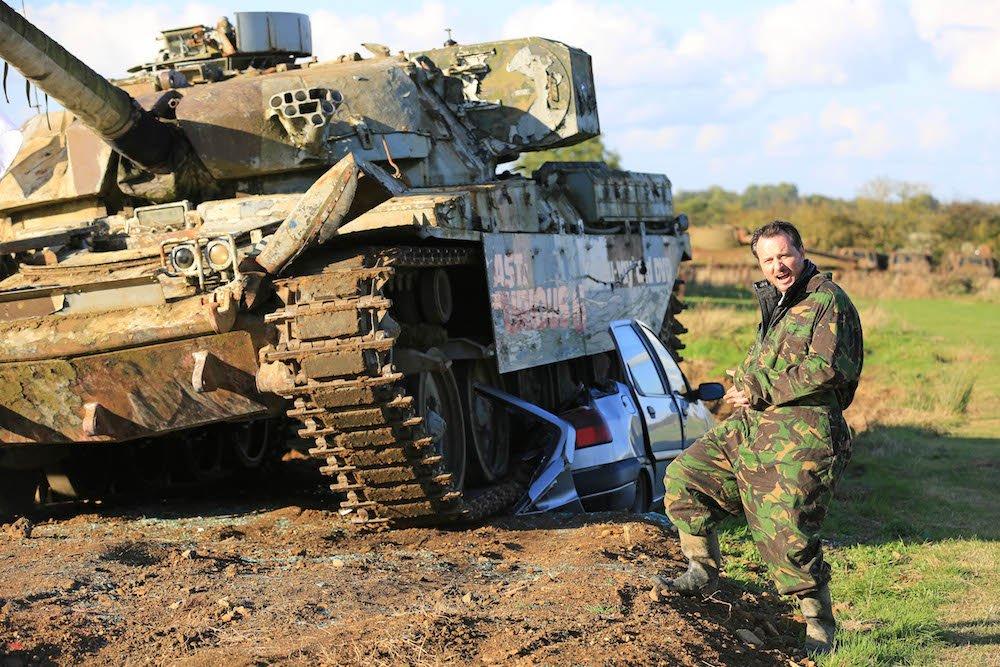 The Car Expert drove a Chieftan tank over an innocent Citroen