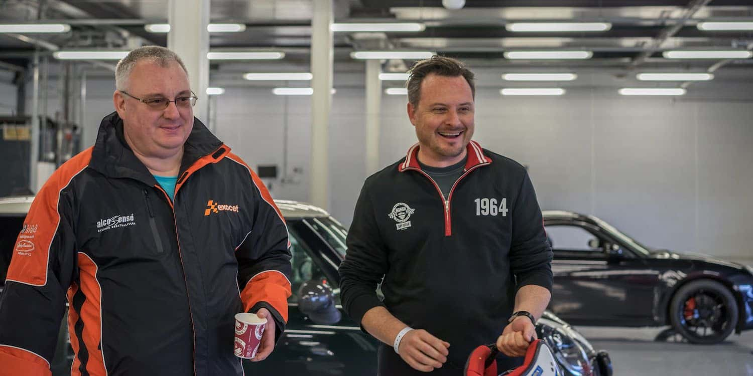 Stuart from The Car Expert and Dr. Bob from FAST Exocet at Silverstone