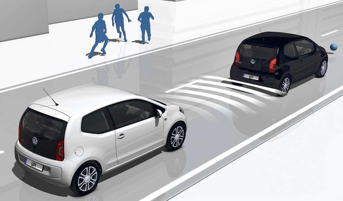 Volkswagen up! autonomous city braking
