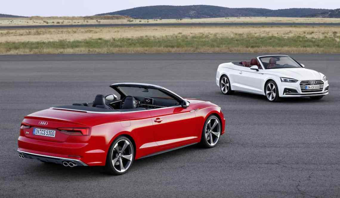Audi S5 Cabriolet (red) and A5 Cabriolet (white)