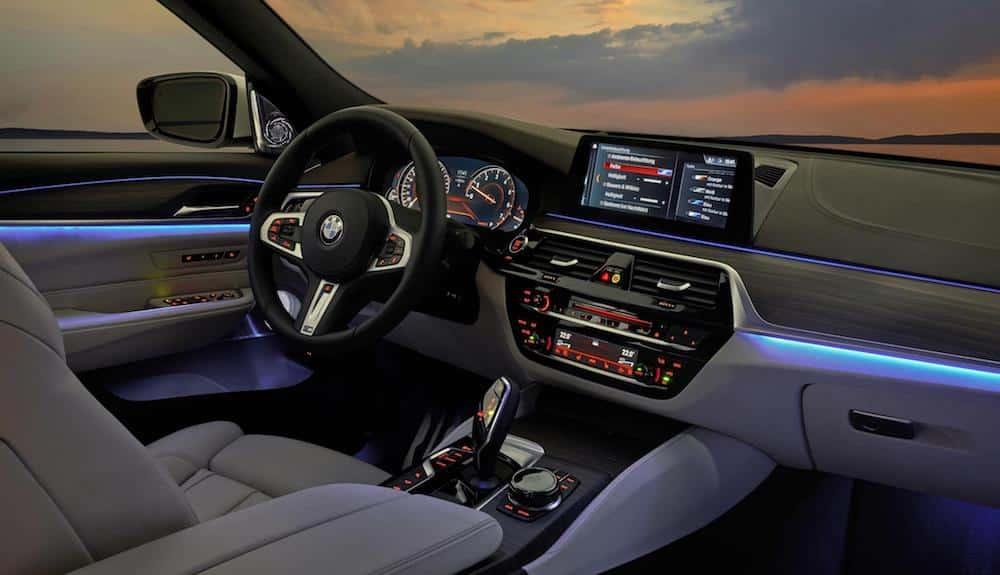 Interior of BMW 6 Series GT