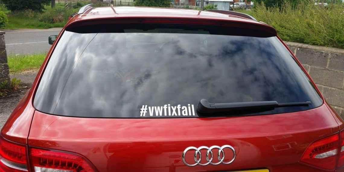Audi with #vwfixfail sticker
