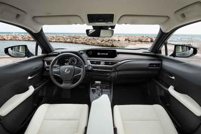 Lexus UX interior (press release)