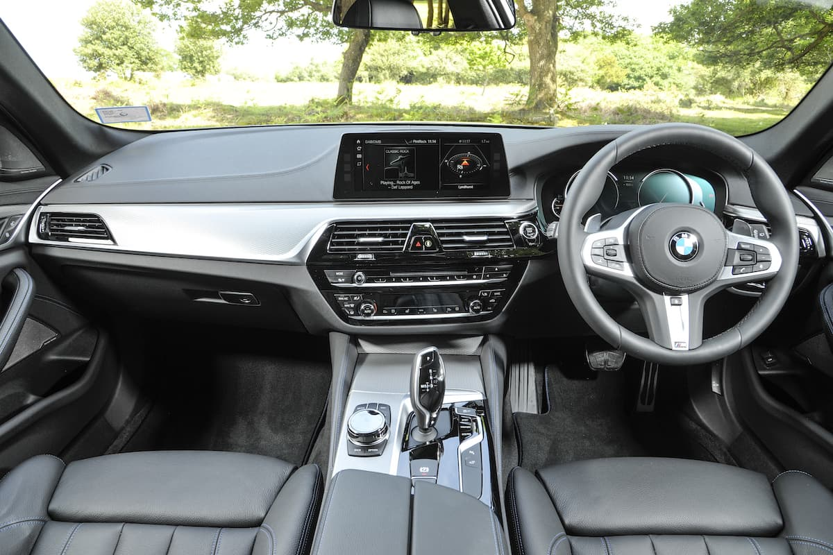 BMW 5 Series (2017) - interior and dashboard