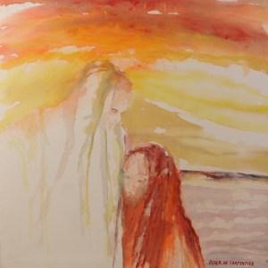 schilderij van Roger de Carpentier over Naomi en Ruth