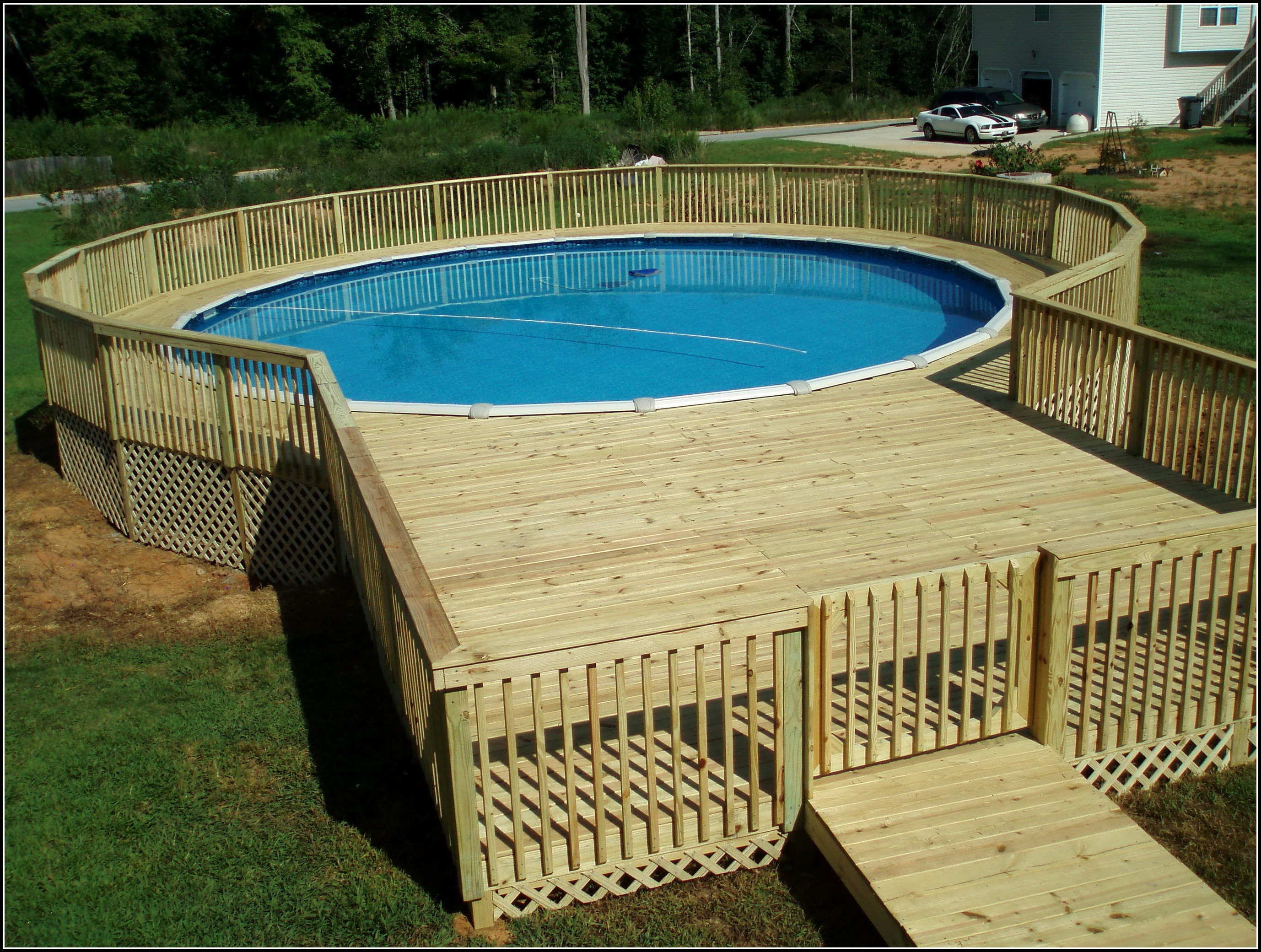 24 Above Ground Pool Deck Plans - Decks : Home Decorating ... on Pool Deck Patio Ideas  id=40514
