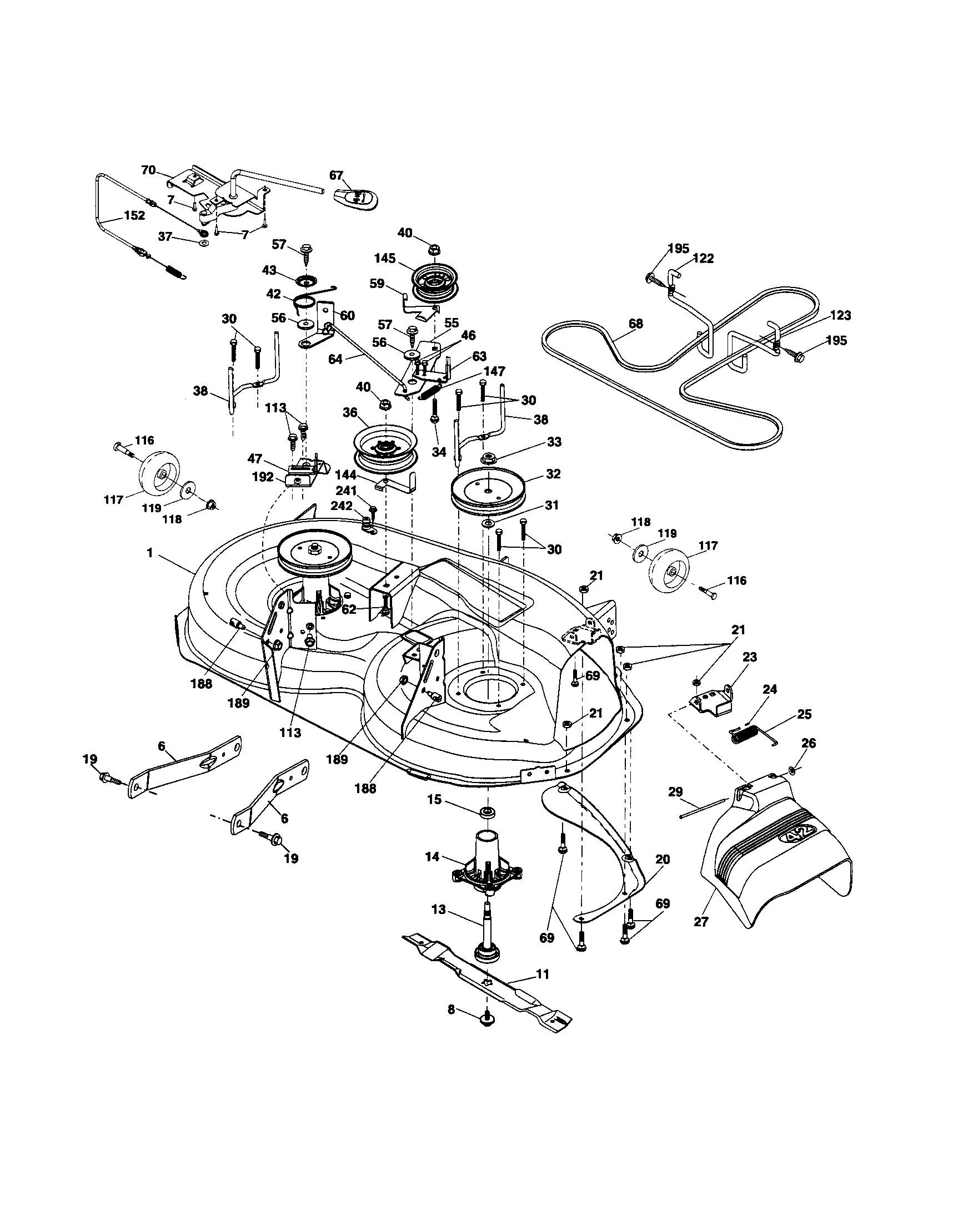 Husqvarna Mower Deck Diagram