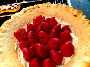 strawberries in stuck in cream cheese