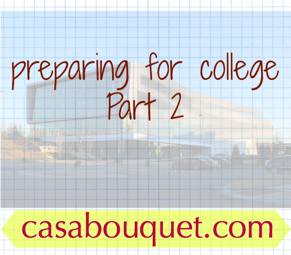 College preparation at the end of high school includes choosing a major, calculating expenses, and applying for scholarships. College planning worksheets.