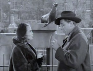 Janet Leigh and Robert Mitchum enjoy Christmas in New York with toy trains and Central Park sea lions. From Lisa's Home Bijou: Holiday Affair (1949)
