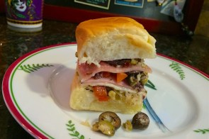 Muffuletta sliders for Mardi Gras