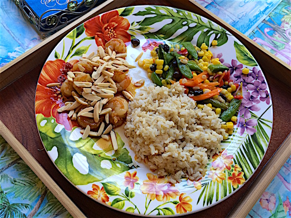 Thai shrimp with fish sauce and nuts – gluten free soy free