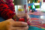 Floating diver uses an eyedropper to make a Cartesian diver. Kids learn pressure and buoyancy!