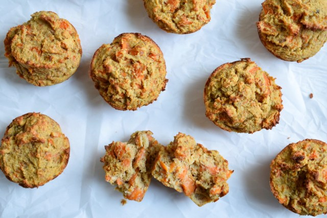 banana carrot paleo muffin