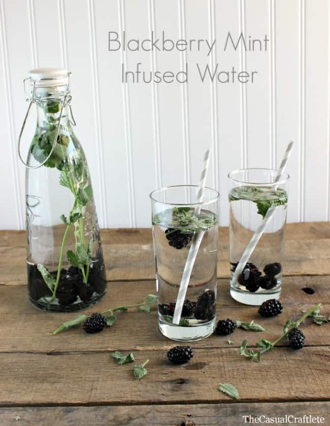 Blackberry Mint Infused Water by The Casual Craftlete