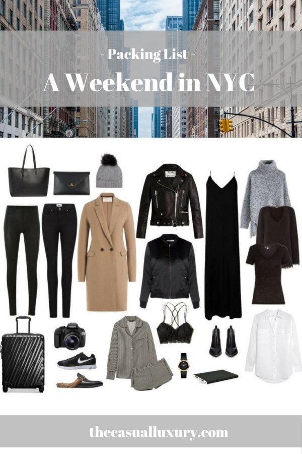 New York City Packing List What To Pack For A Weekend