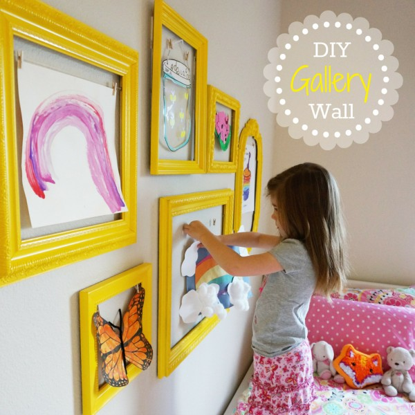 DIY Gallery Wall - Children's Art Wall | The Caterpillar Years