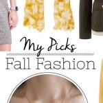 My fashion picks for fall