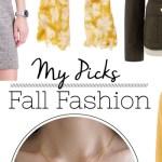My fashion picks for fall