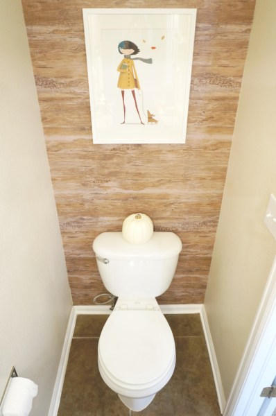 Fall Decor Powder Room - 03