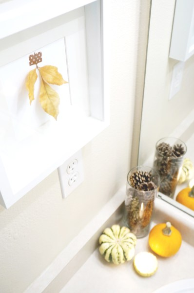 Fall Decor Powder Room - 08