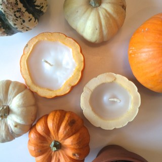 Make your own mini pumpkin candles!