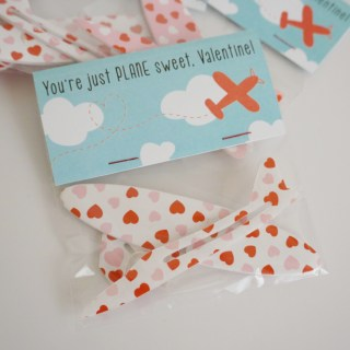Airplane Valentine with Free Printable