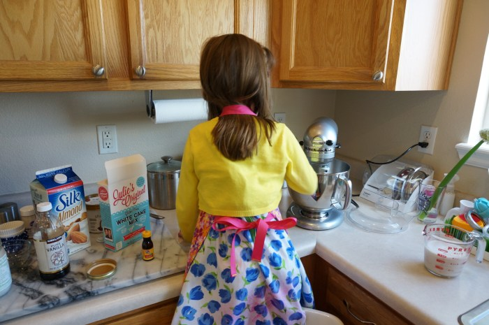 Baking with Julie's Original Gluten Free Cake Mix