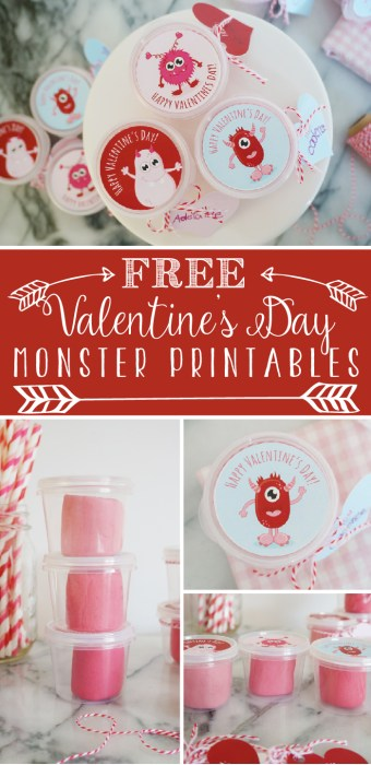 free printable valentine monsters