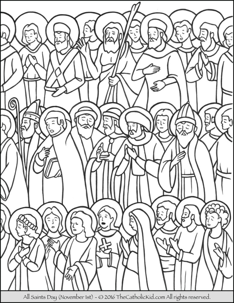 all saints day coloring pages | Coloringsite.co