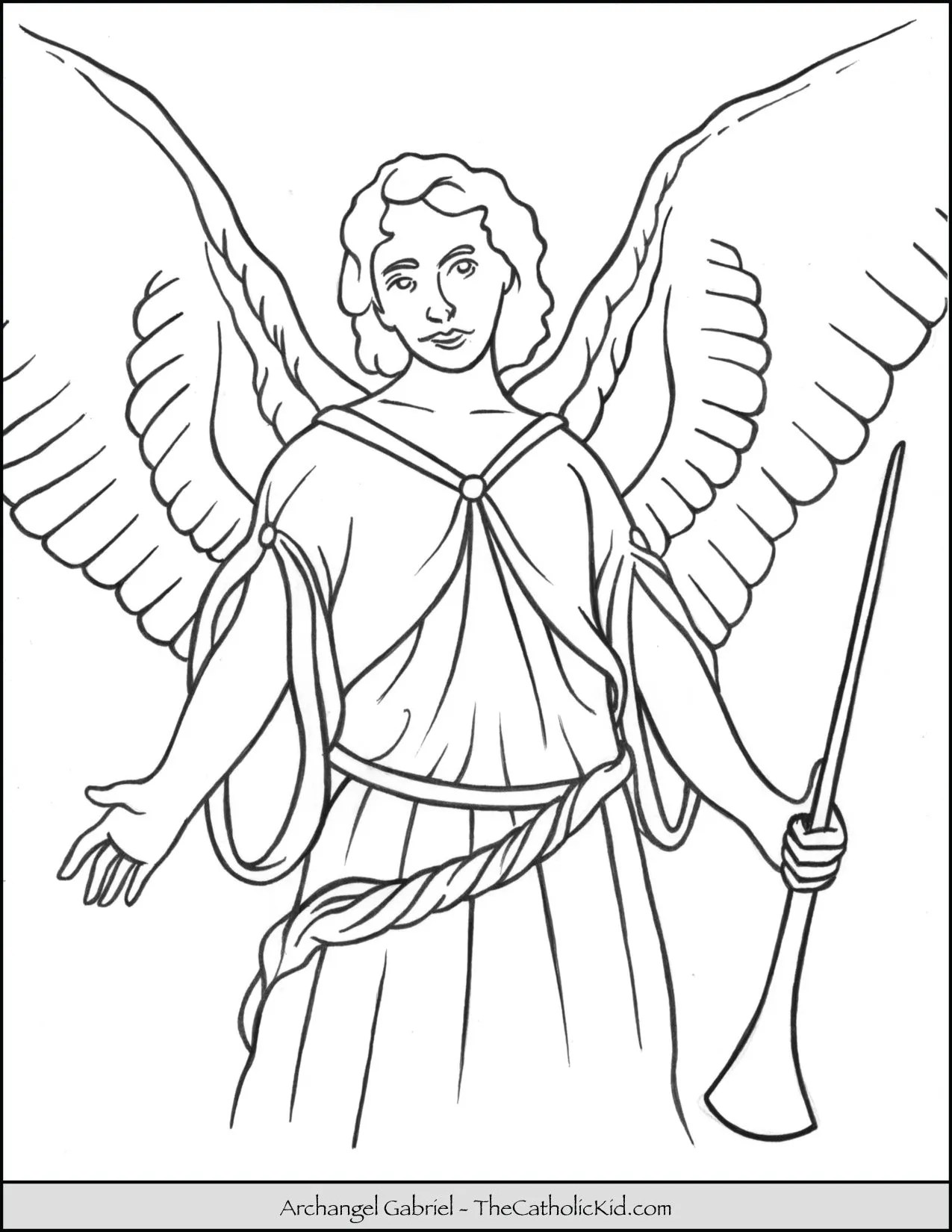 Archangel Gabriel Coloring Page