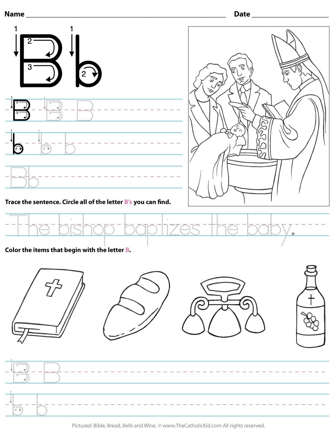 Worksheet For Kids Letter B Worksheet Preschool
