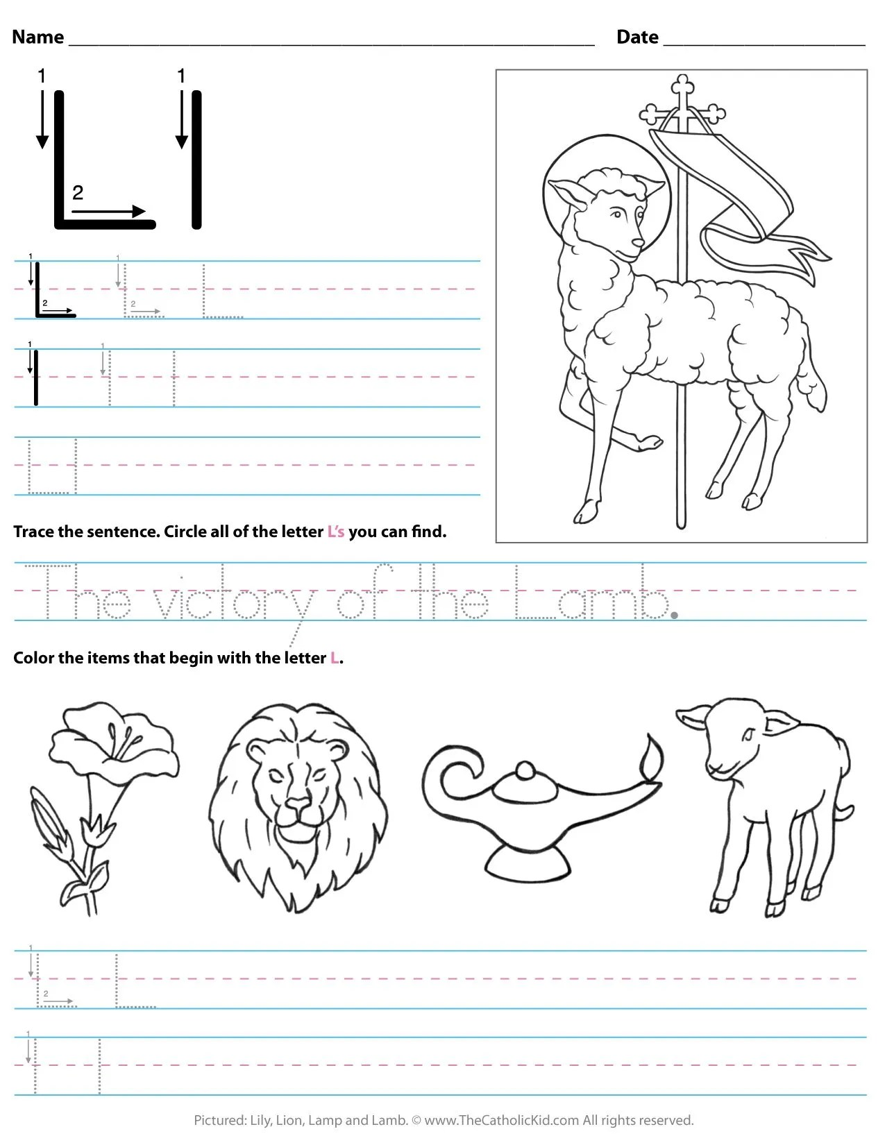 Catholic Preschool Worksheet