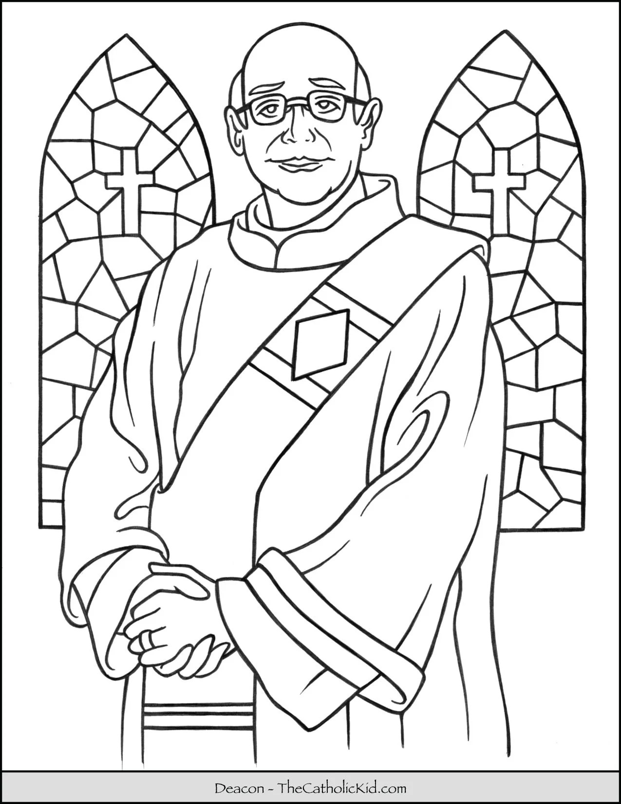 Catholic Deacon Coloring Page