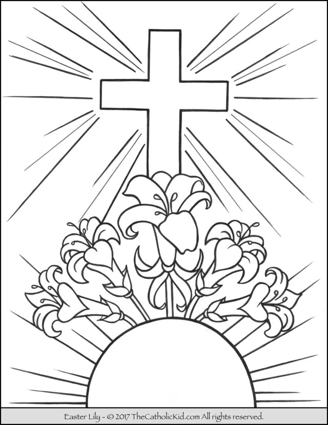 Easter Lily Coloring Page -