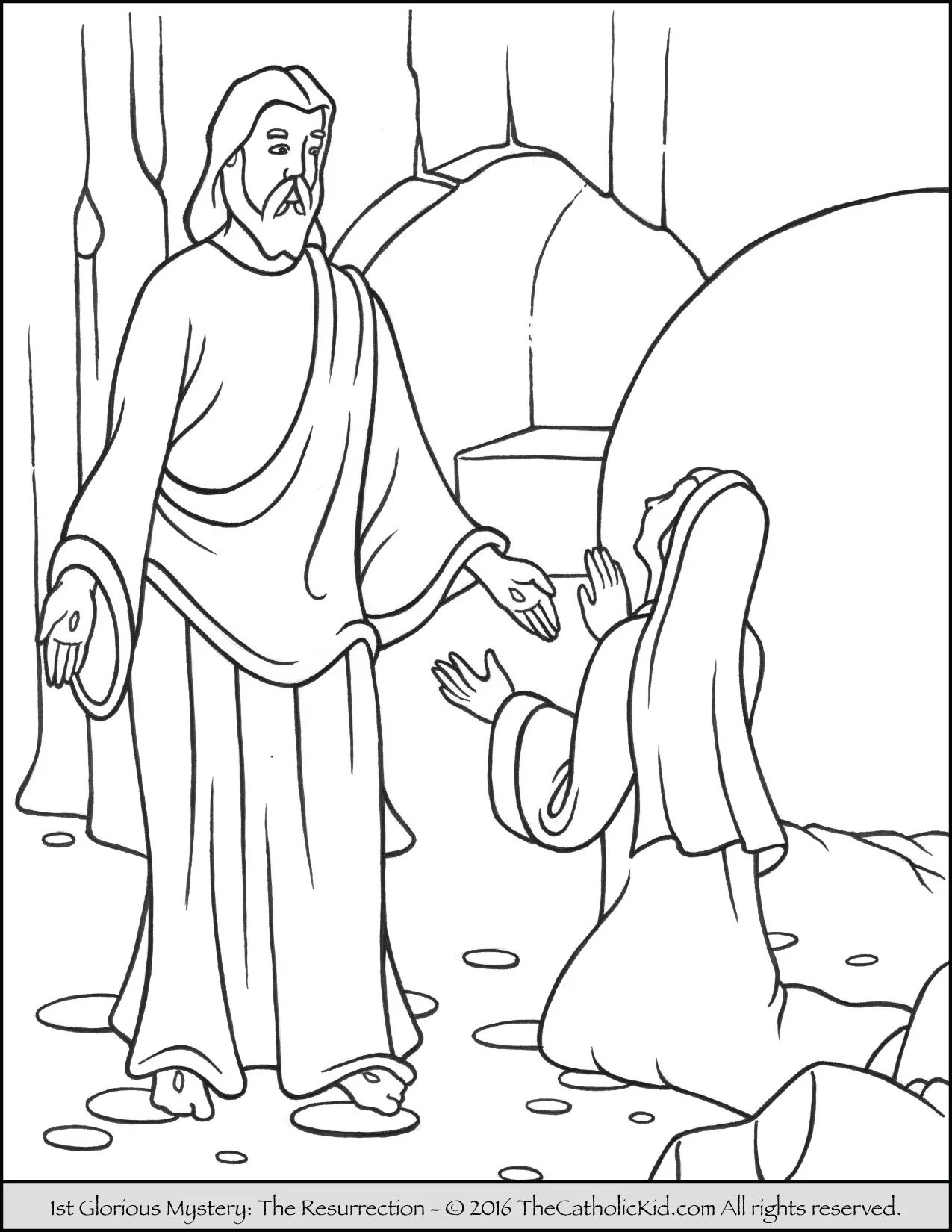 Glorious Mysteries Rosary Coloring Pages