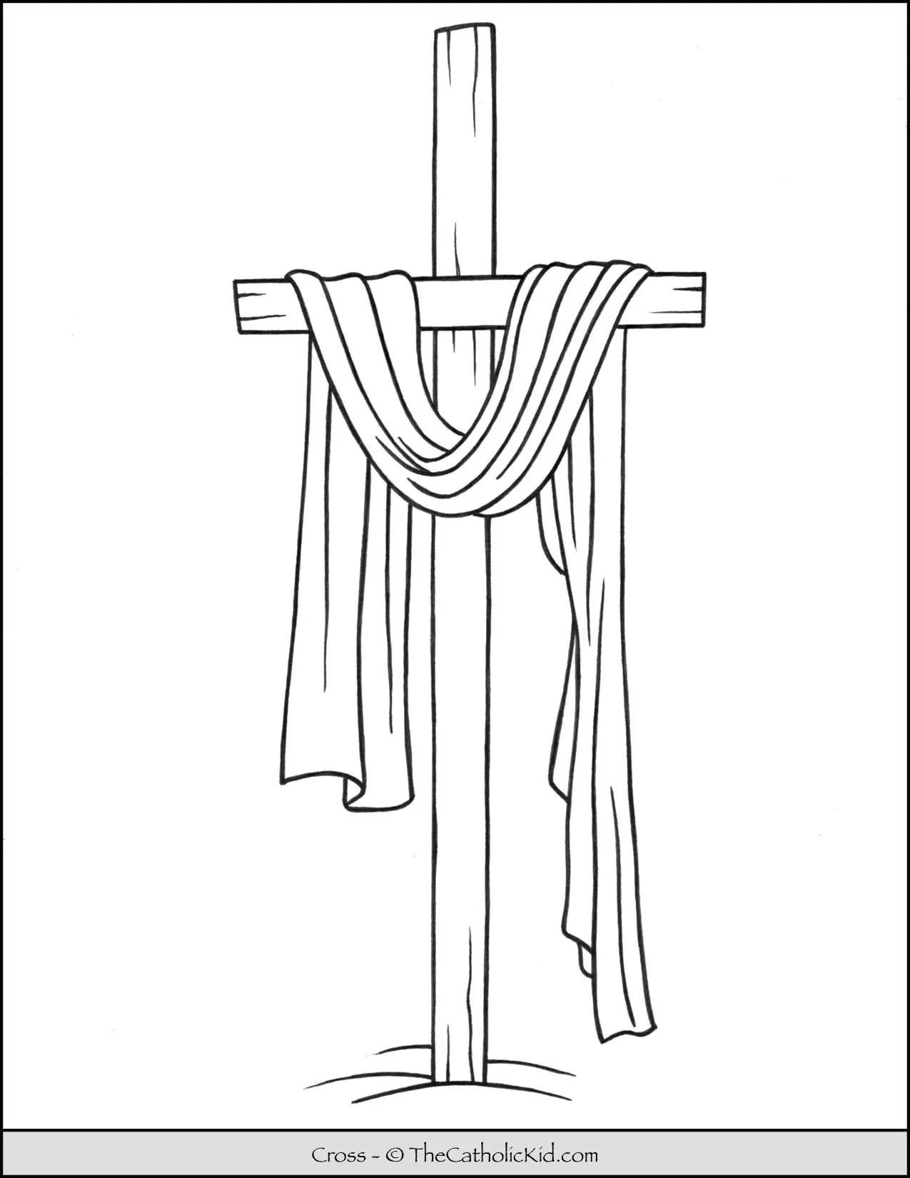 Lent Coloring Page Cross D D