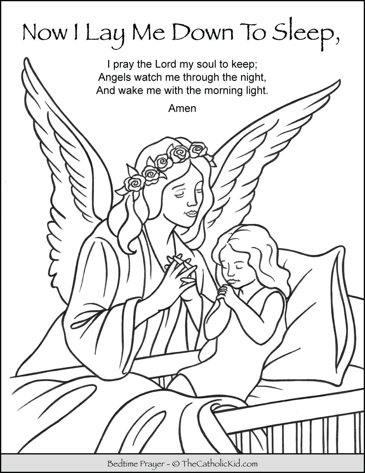 Now I Lay Me Down To Sleep Child Bedtime Prayer