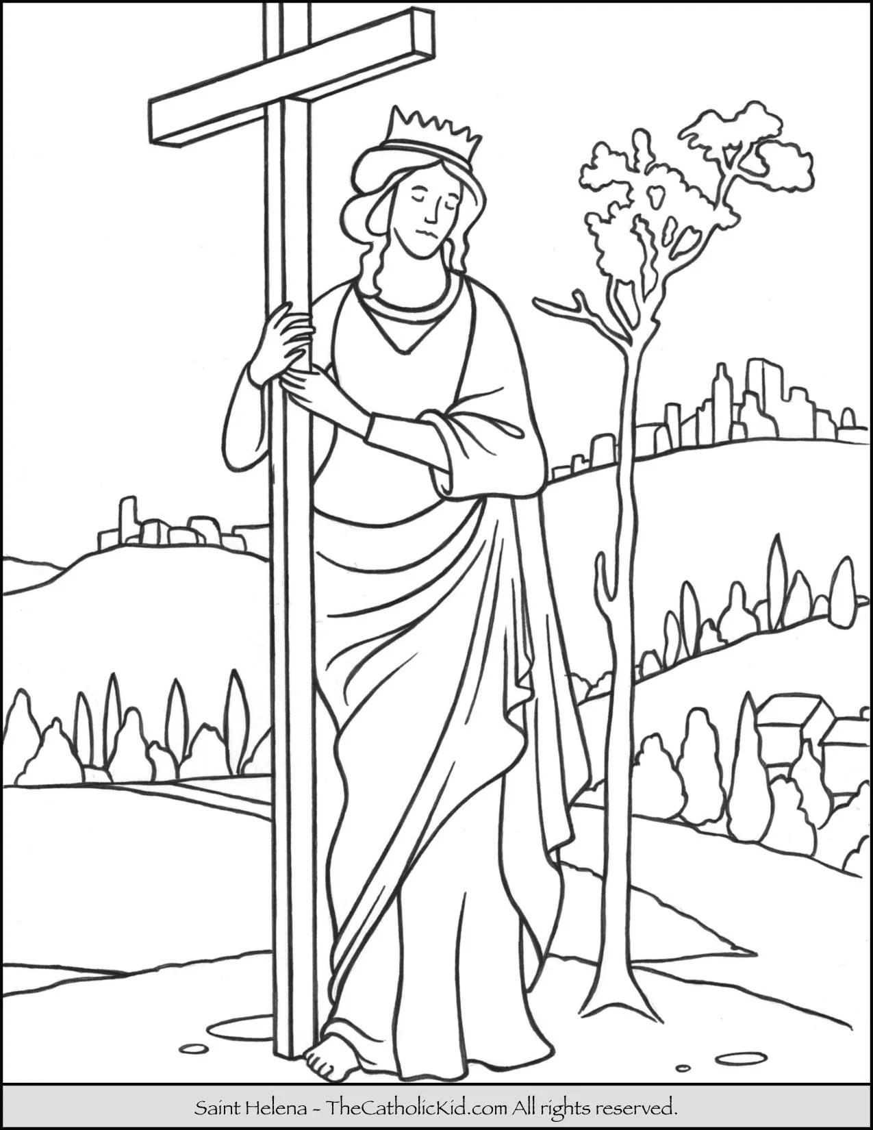 Saint Helena Coloring Page