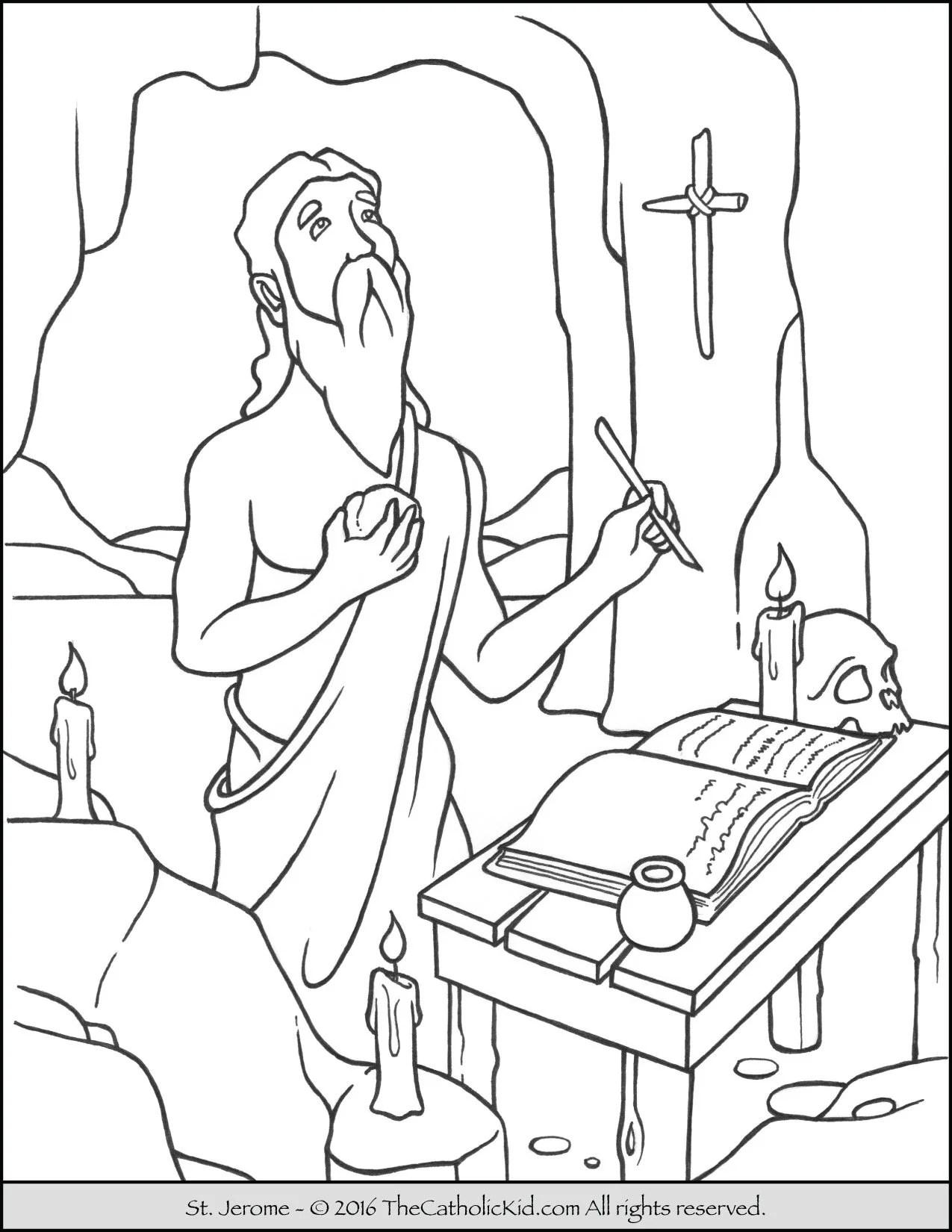 Saint Jerome Coloring Page