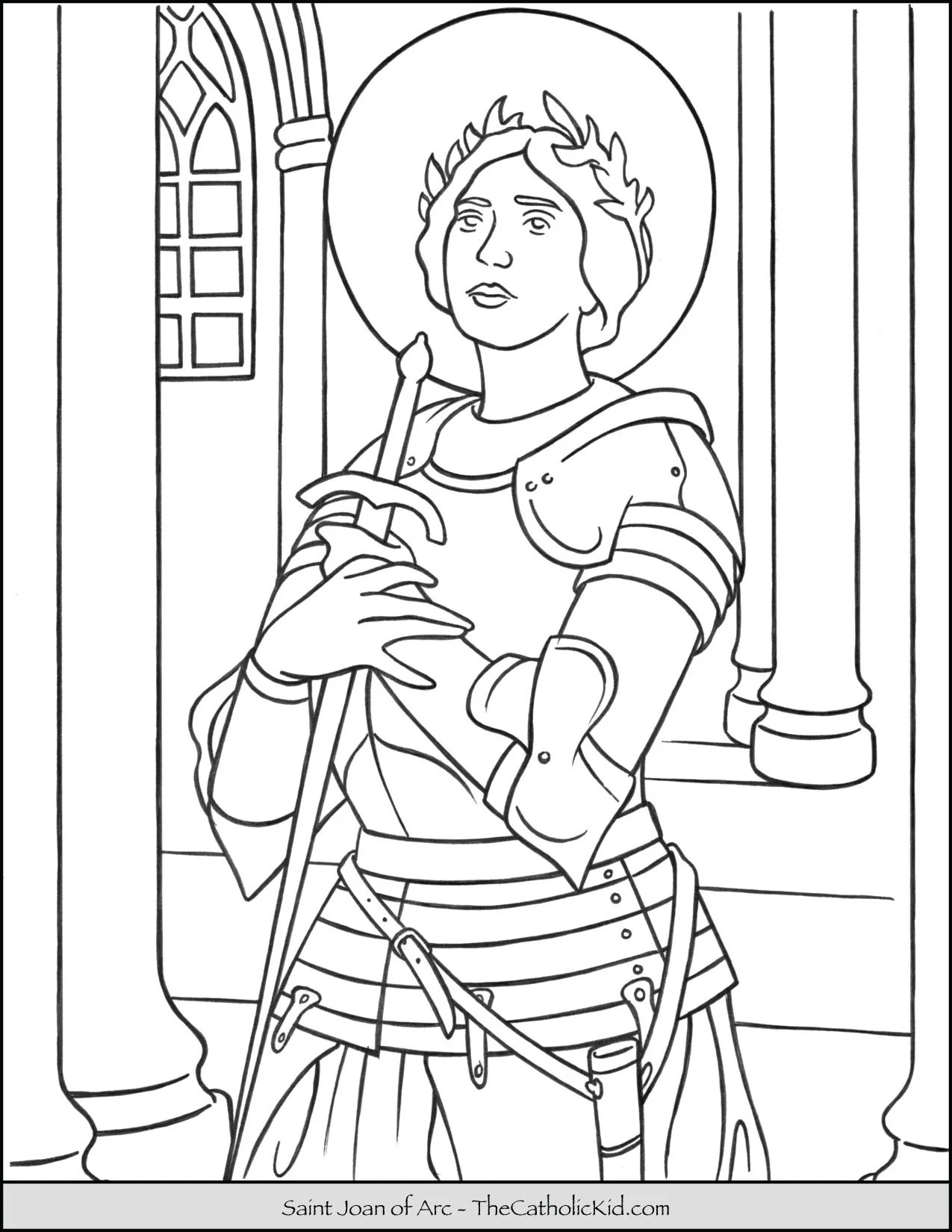 Saint Joan Of Arc Coloring Page