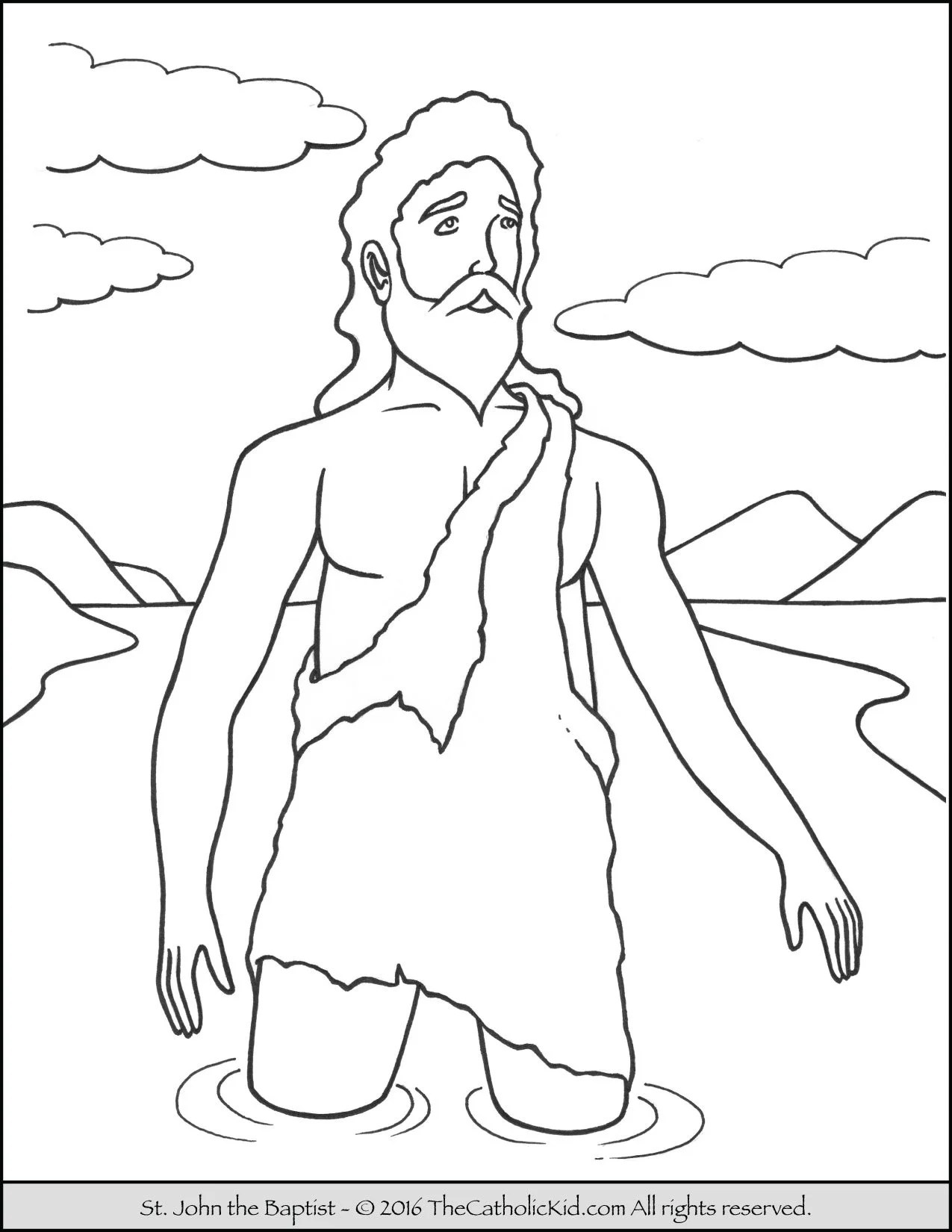 Saint John The Baptist Coloring Pages