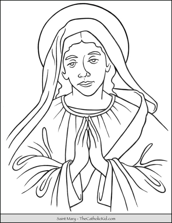 mary coloring pages # 18