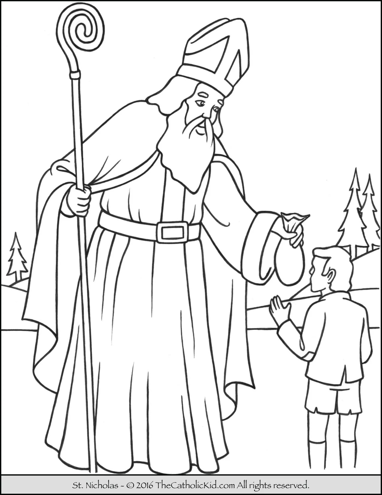 Saint Nicholas Coloring Pages