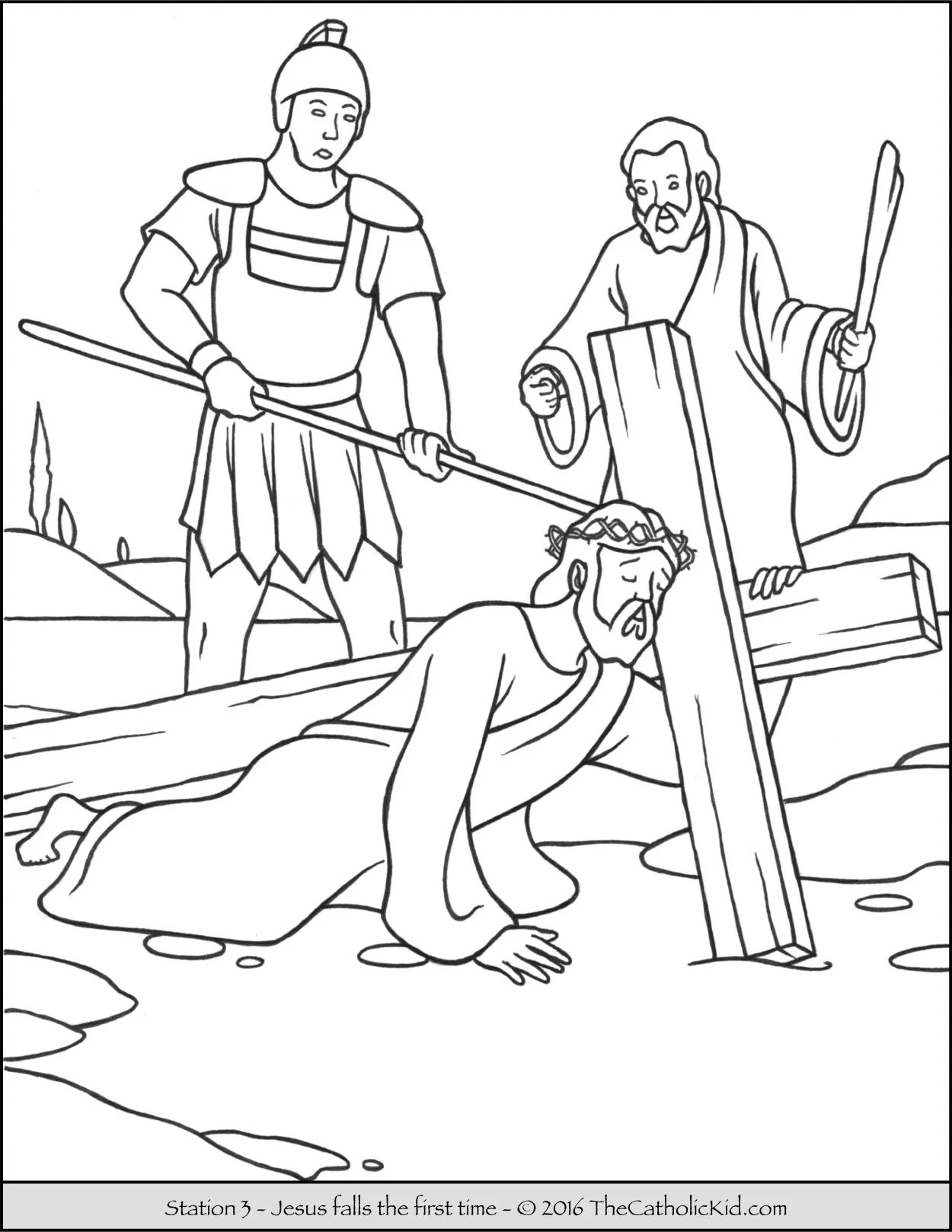 Station Of Cross Coloring Pages Printable Sketch Coloring Page