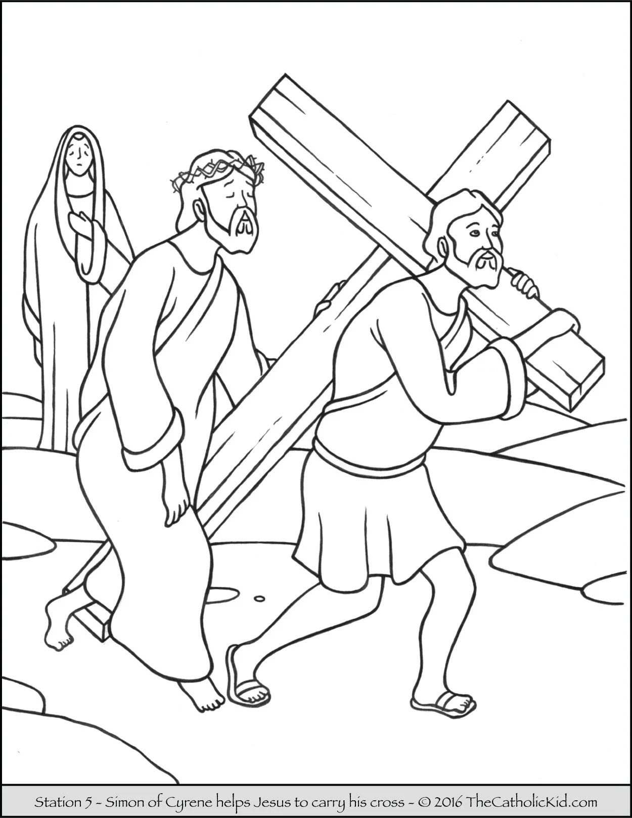 Stations Of The Cross Coloring Pages